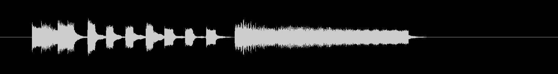 コメディー、とぼけた印象のサウンドロゴの未再生の波形