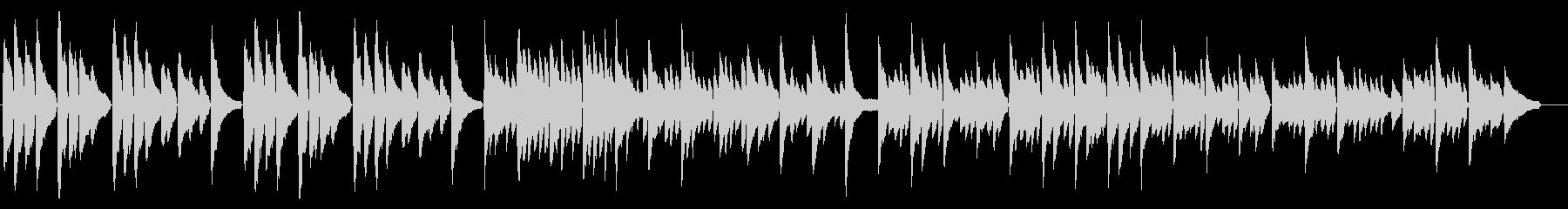 落ち着いた感動系ピアノソロの未再生の波形
