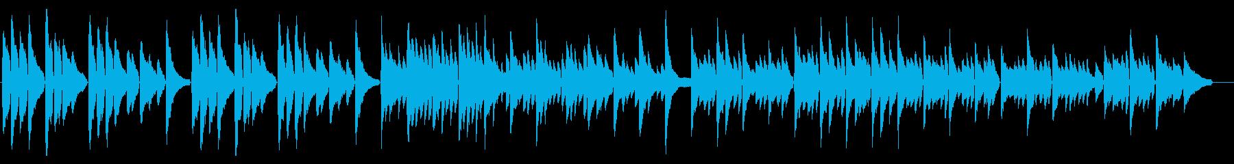 落ち着いた感動系ピアノソロの再生済みの波形