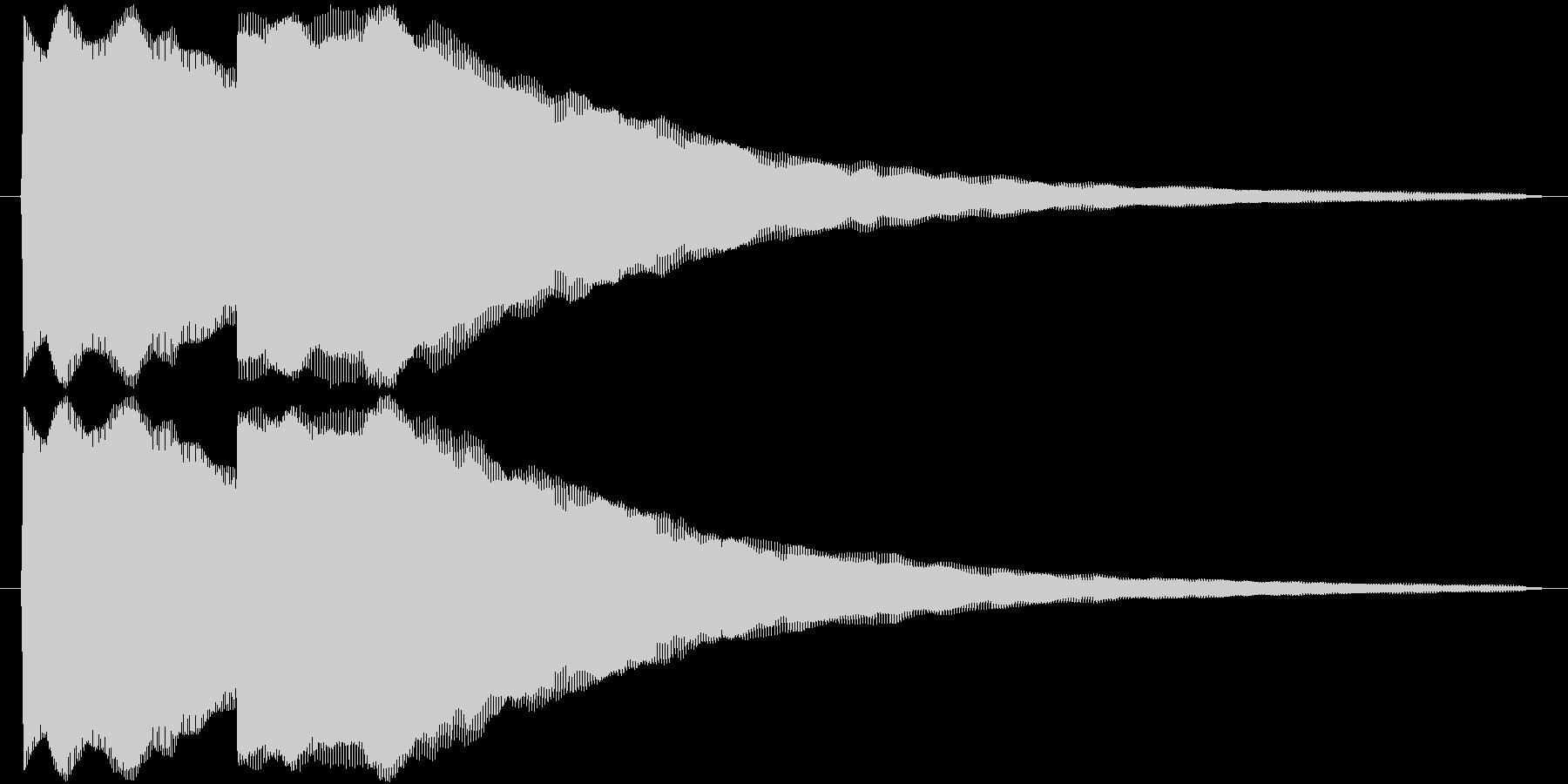 ピンポン(正解音_ゆっくり)の未再生の波形