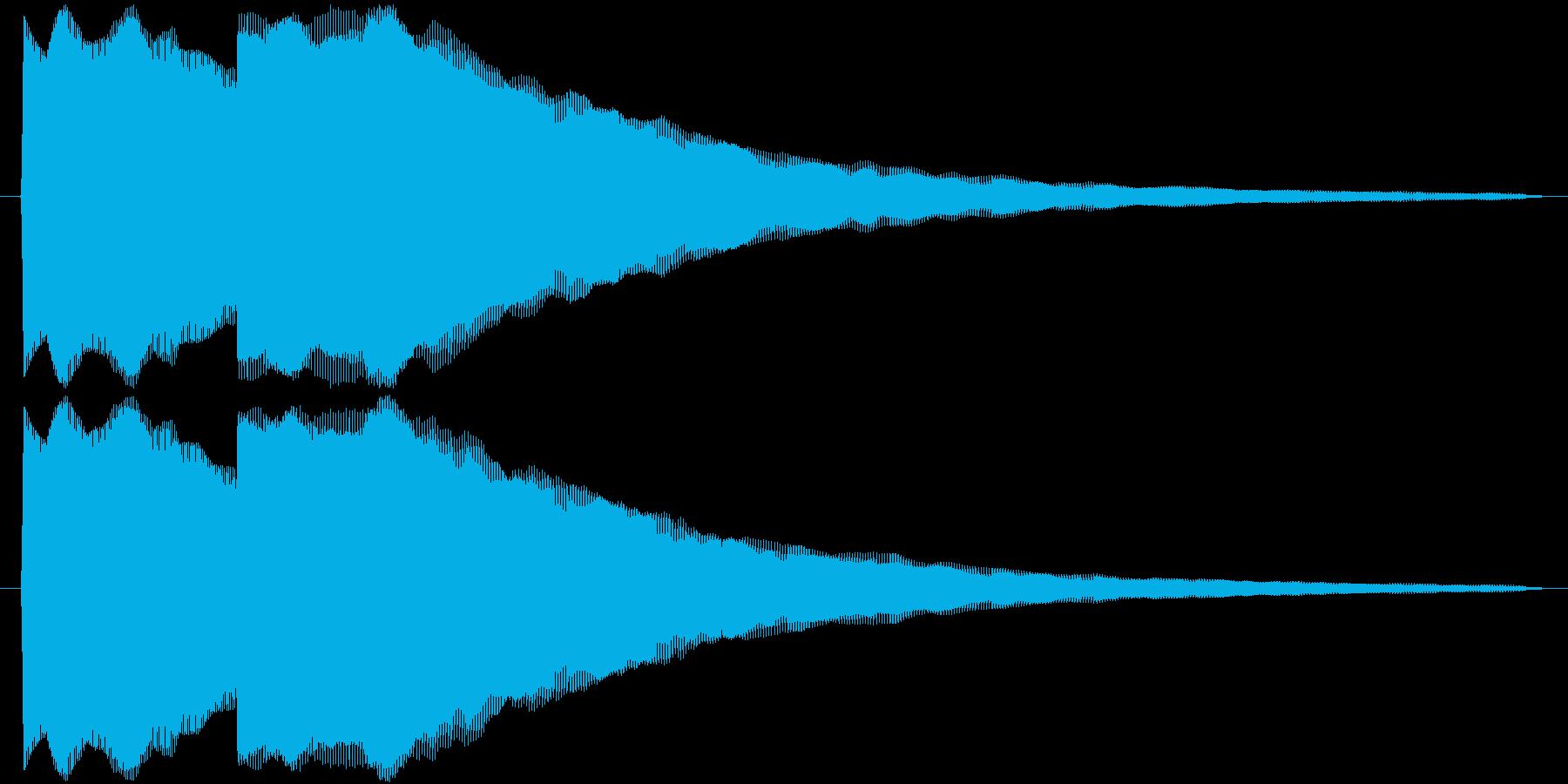 ピンポン(正解音_ゆっくり)の再生済みの波形