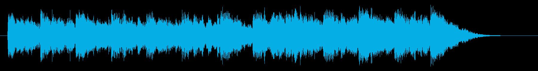 ゆったりと繊細なシンセジングルの再生済みの波形