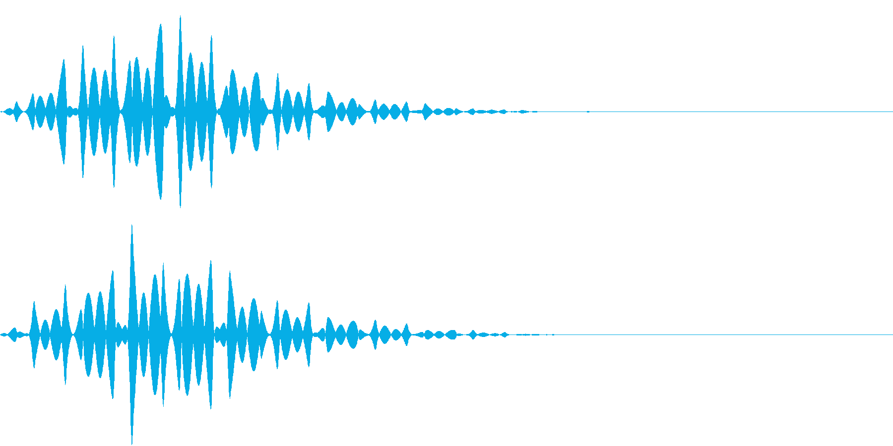 FX 幽霊の効果音 揺れる SE 1の再生済みの波形