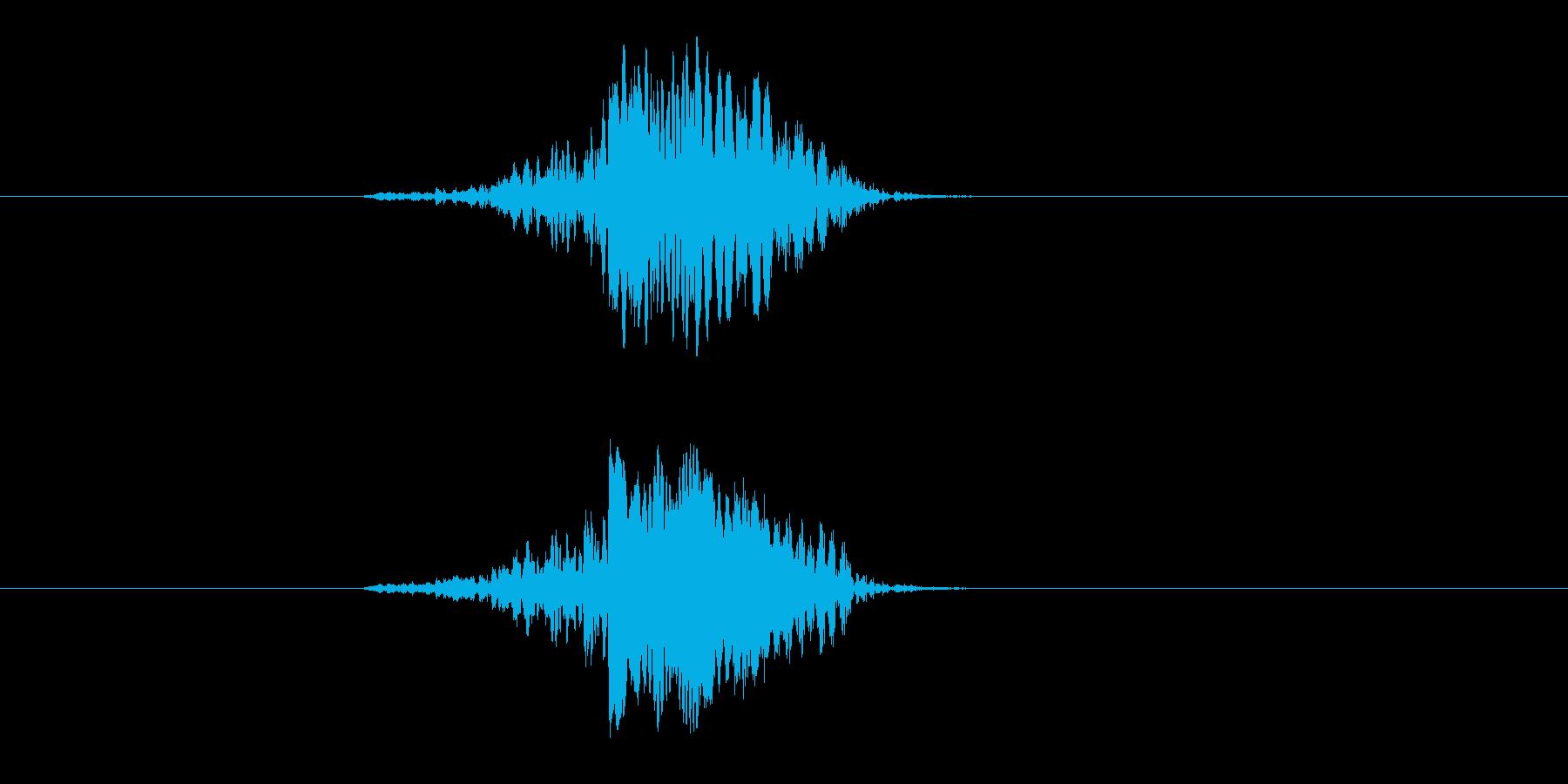 ヒューン(飛ぶ、速い、通過)の再生済みの波形