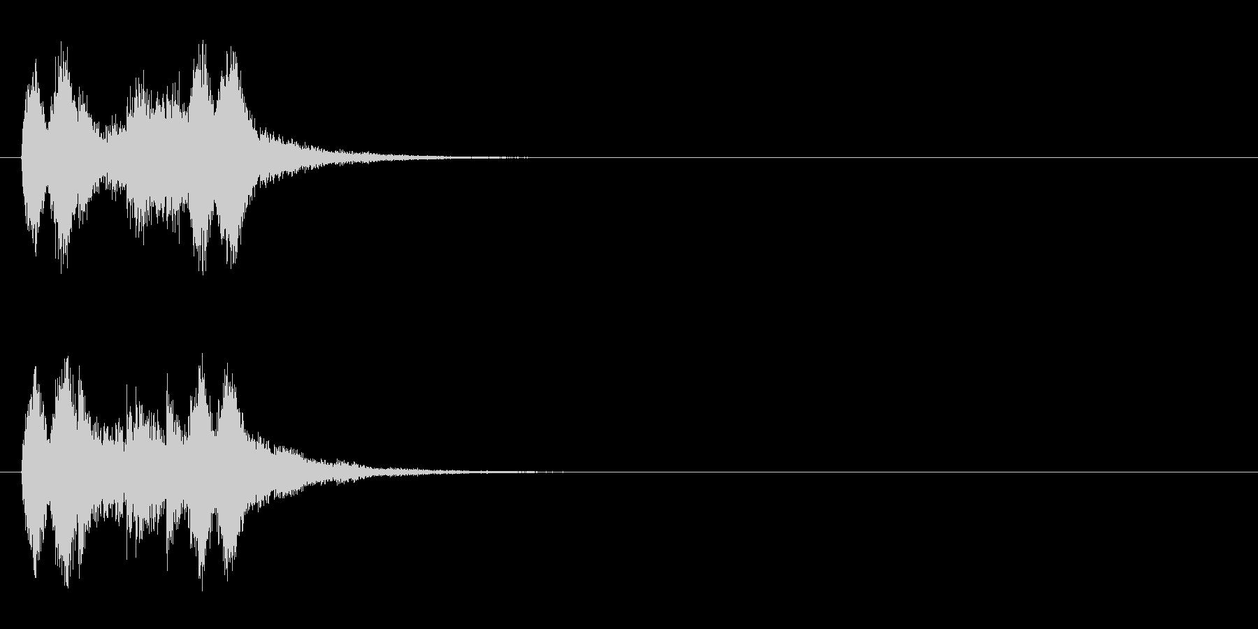 ジングル(サスペンス風/マイナー)の未再生の波形
