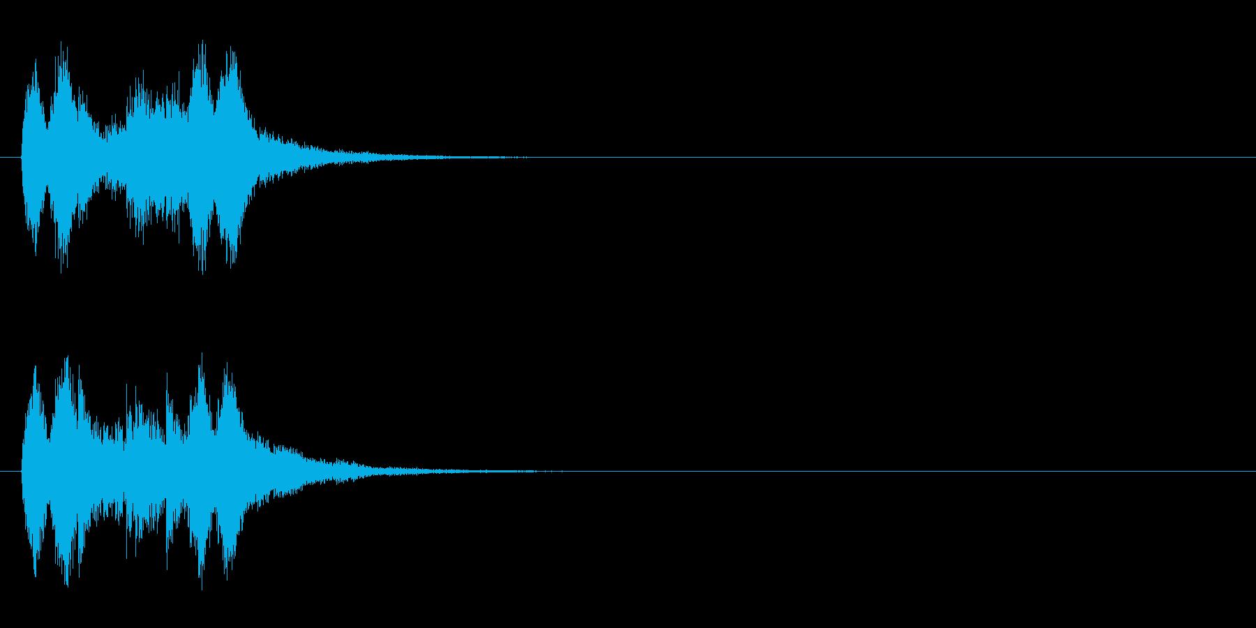 ジングル(サスペンス風/マイナー)の再生済みの波形