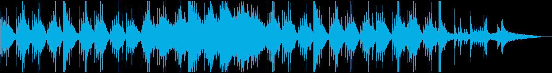 シンプルで感動的な音楽(ピアノメイン)の再生済みの波形