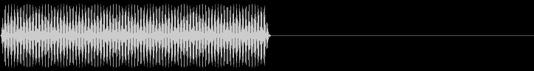 『ピッ』電話のプッシュ音(6)-単音の未再生の波形