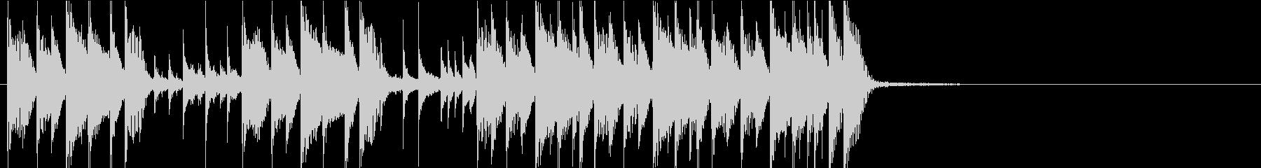 CM ジングル シンプルなピアノでブギーの未再生の波形