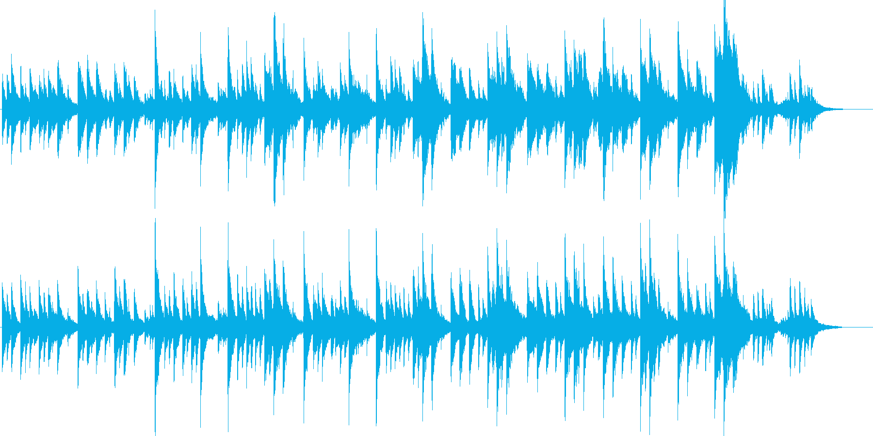 雅な雰囲気の日本的な曲[Full]の再生済みの波形