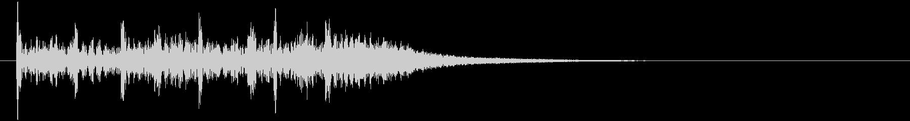 ドラムによる勇ましい場面転換音の未再生の波形
