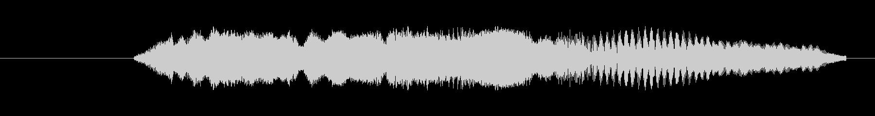 特撮 ハイテクビープ音を確認03の未再生の波形