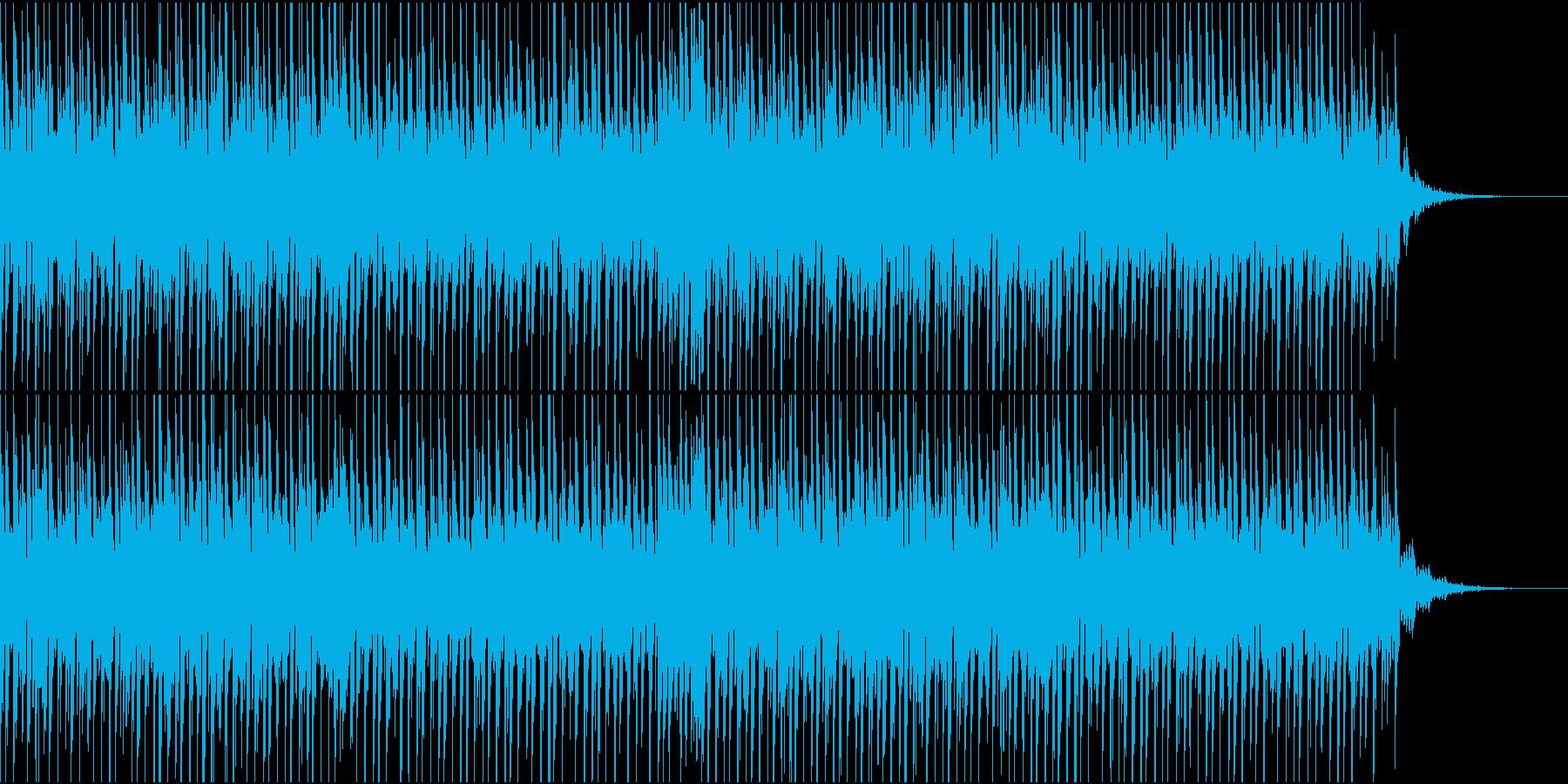 爽快でスタイリッシュなクラブ系BGMの再生済みの波形