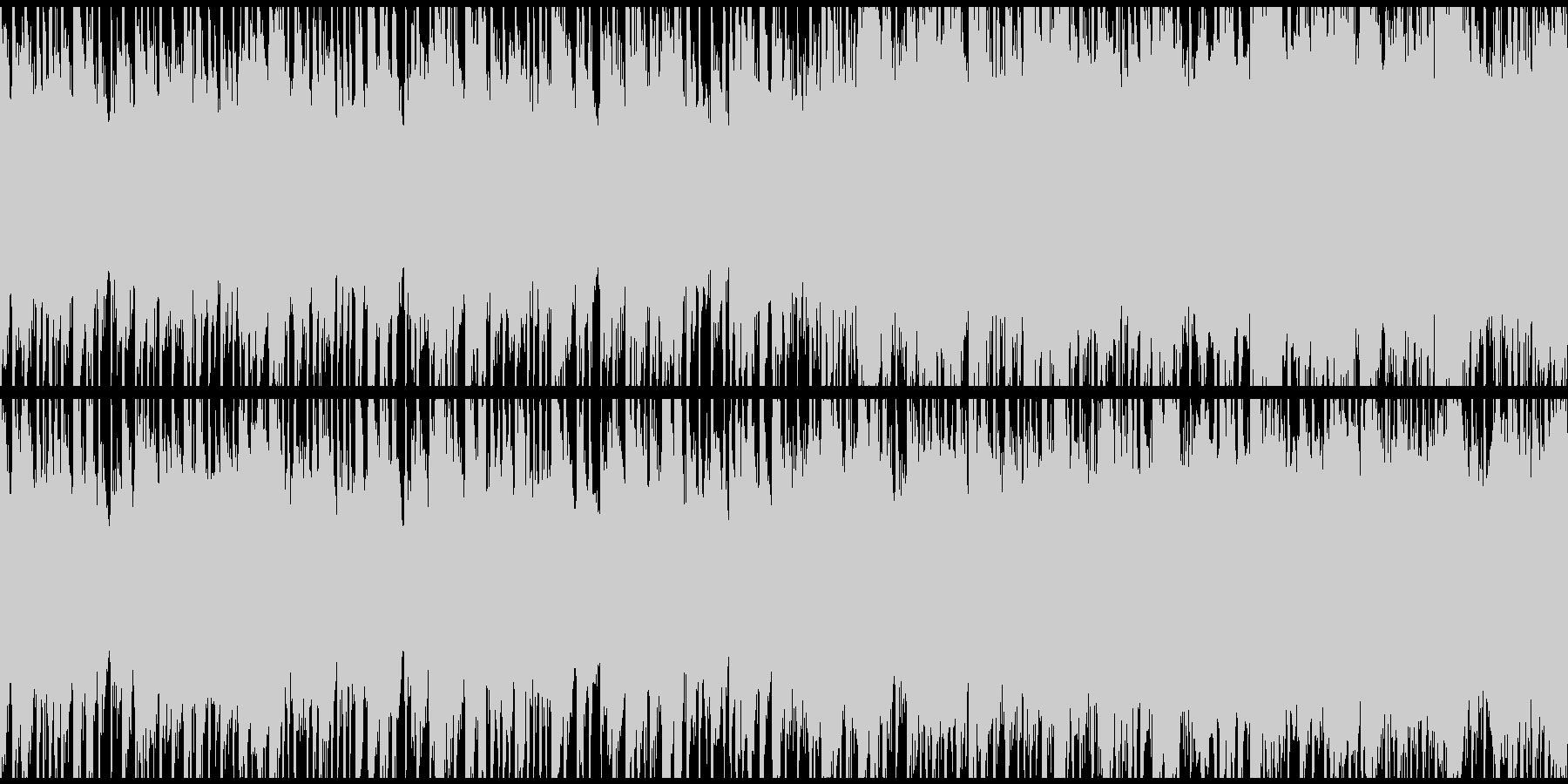 お洒落で軽快なロックBGM(ループ)の未再生の波形