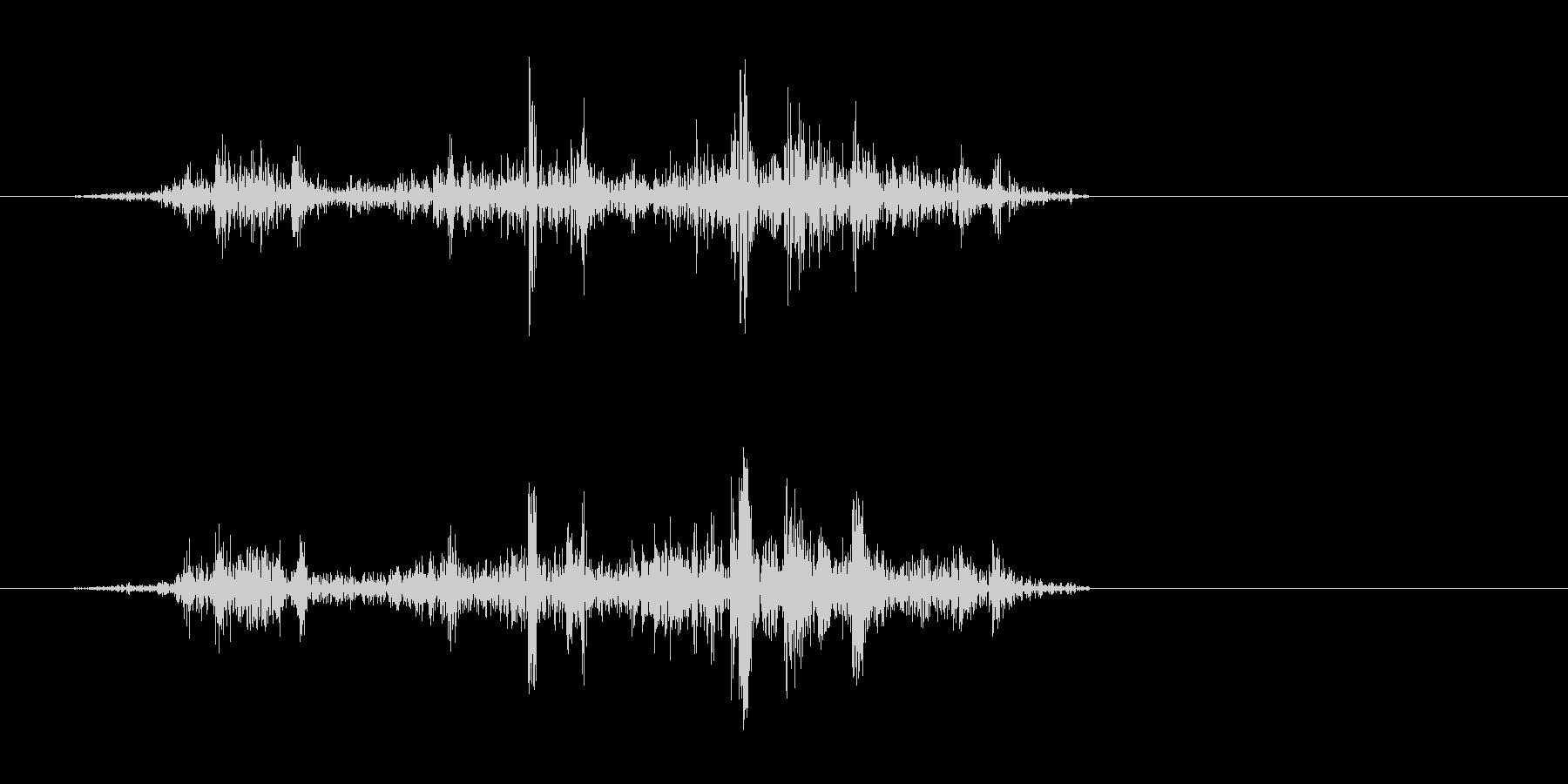 ザザッ(摩擦音)短めの未再生の波形