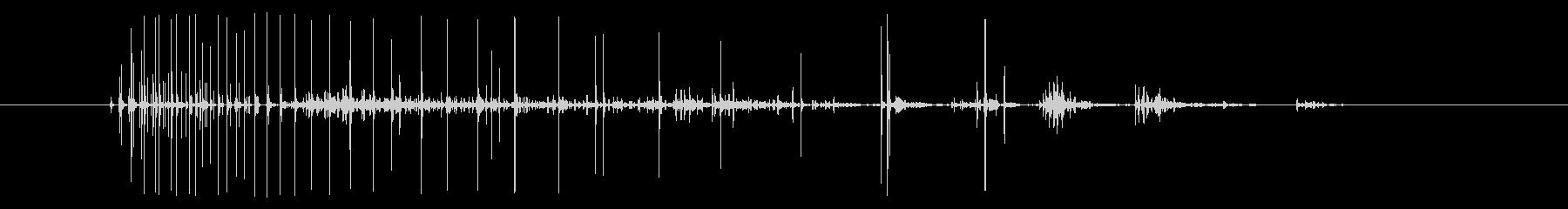 ノイズ 途切れ途切れのノイズショート01の未再生の波形