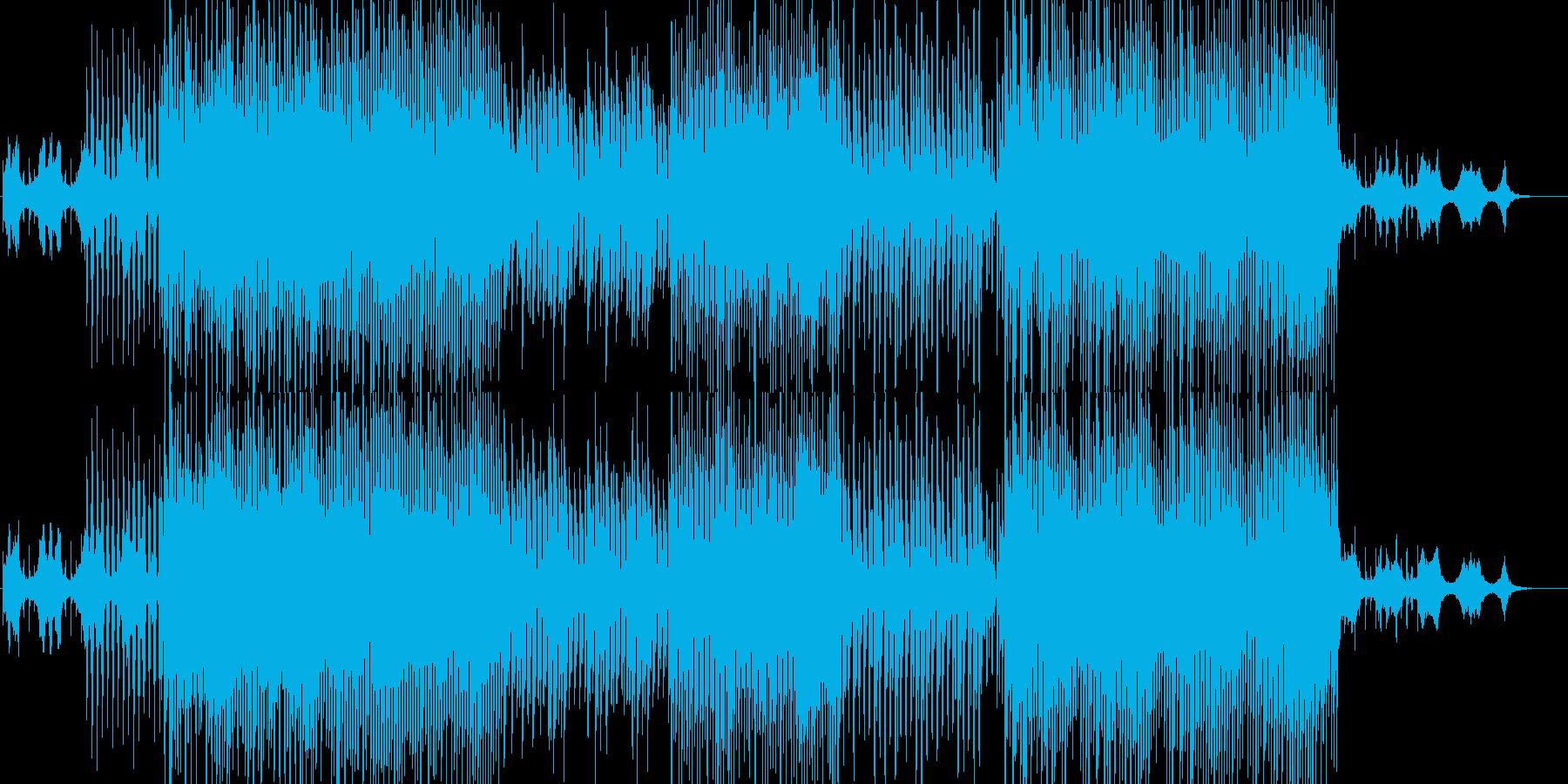 逆再生音を使ったおしゃれなポップBGMの再生済みの波形