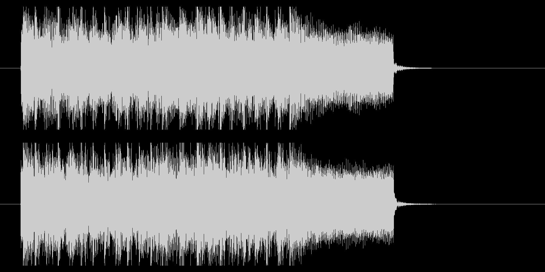 スラッシュメタルジングル(BPM200)の未再生の波形