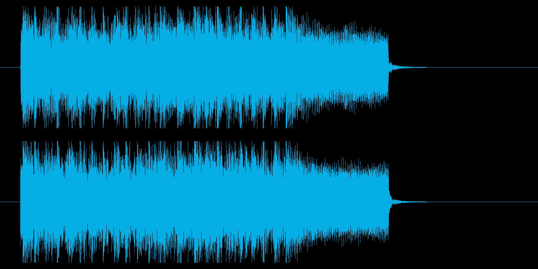 スラッシュメタルジングル(BPM200)の再生済みの波形
