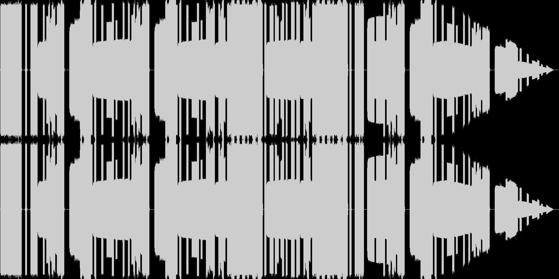 ピコピコ音源の陽気なループ曲の未再生の波形