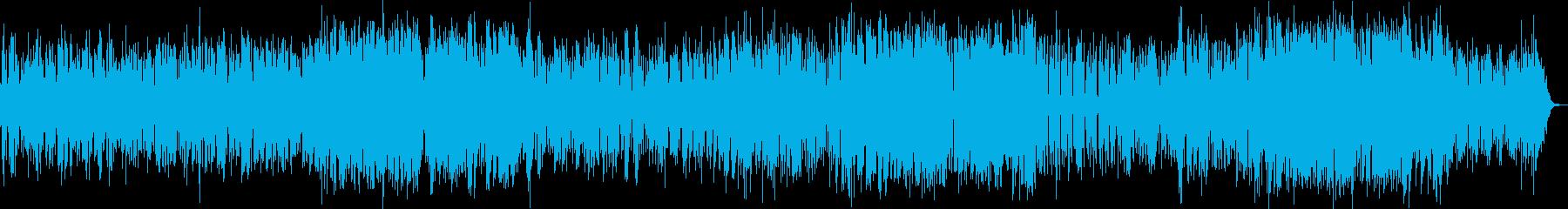明るく爽やかなポップ系インスト曲の再生済みの波形