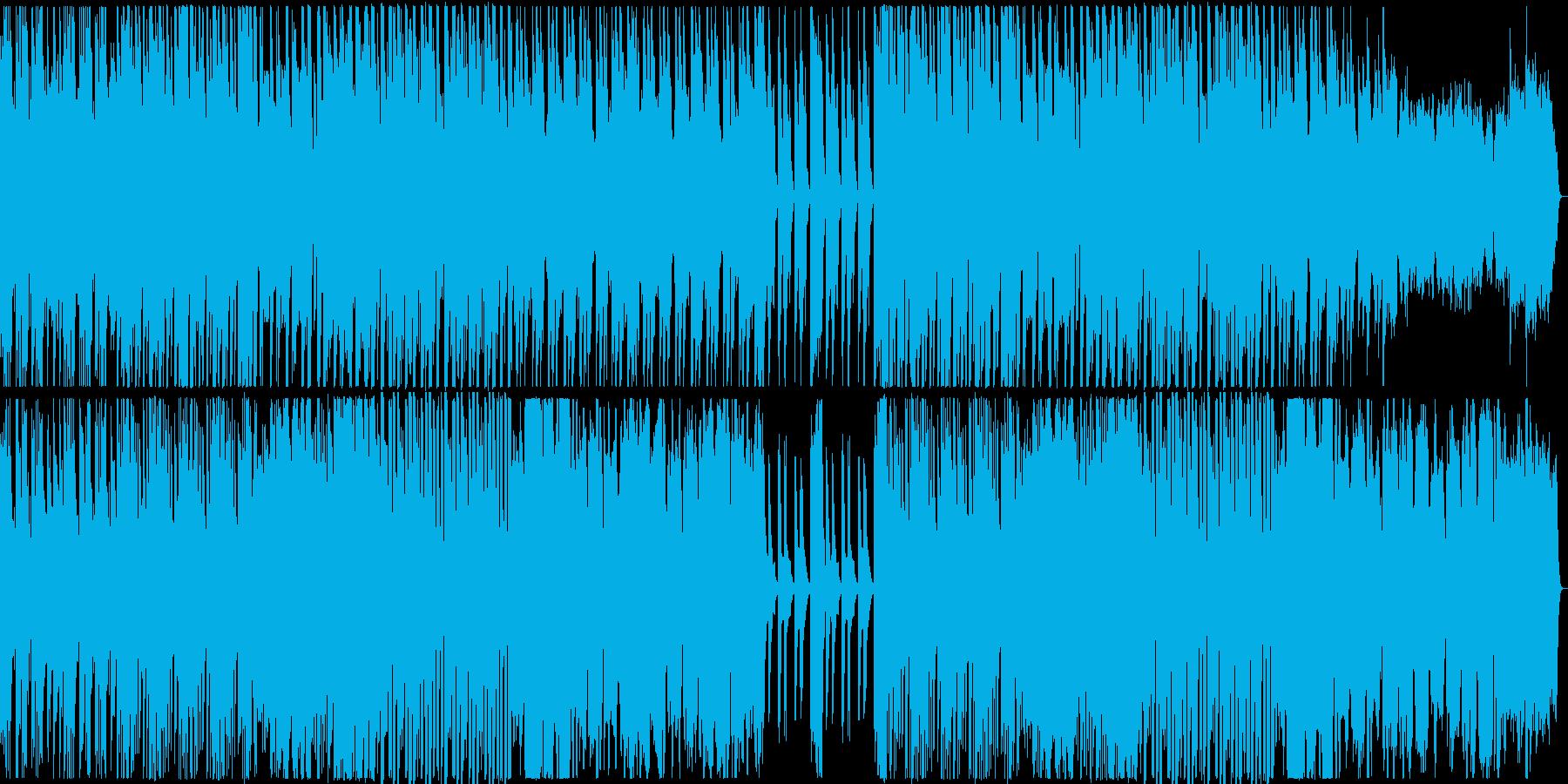 ブズーキ主の陽気なほのぼのアイリッシュ曲の再生済みの波形