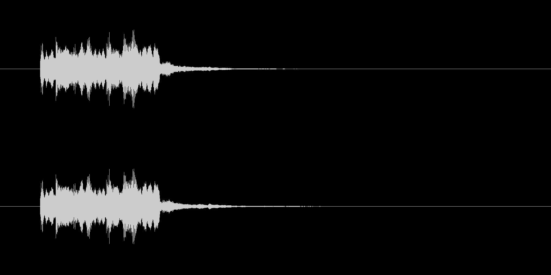 ピンポンピンポン!(正解)シンセの音の未再生の波形