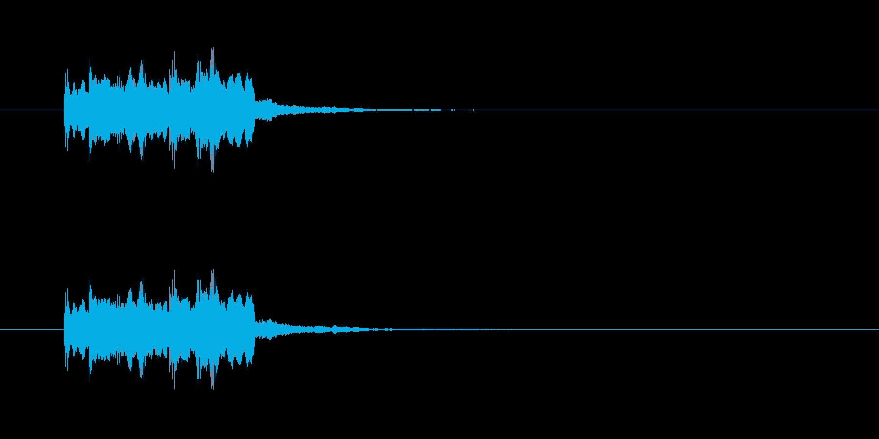 ピンポンピンポン!(正解)シンセの音の再生済みの波形