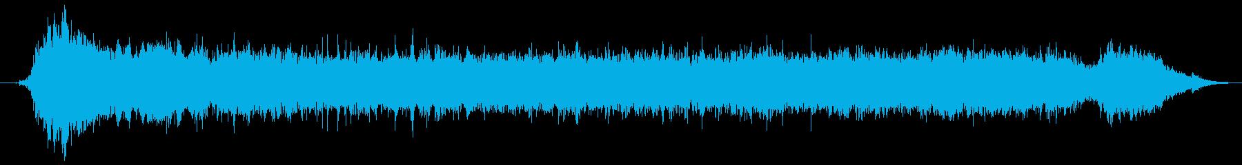 ドリルで木材に穴をあける音6の再生済みの波形