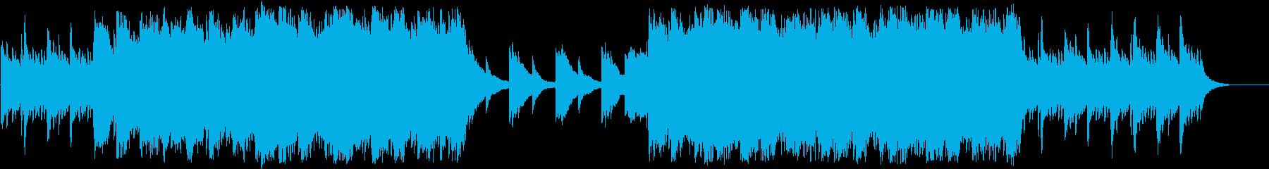 感動的なハープとピアノとストリングスの再生済みの波形