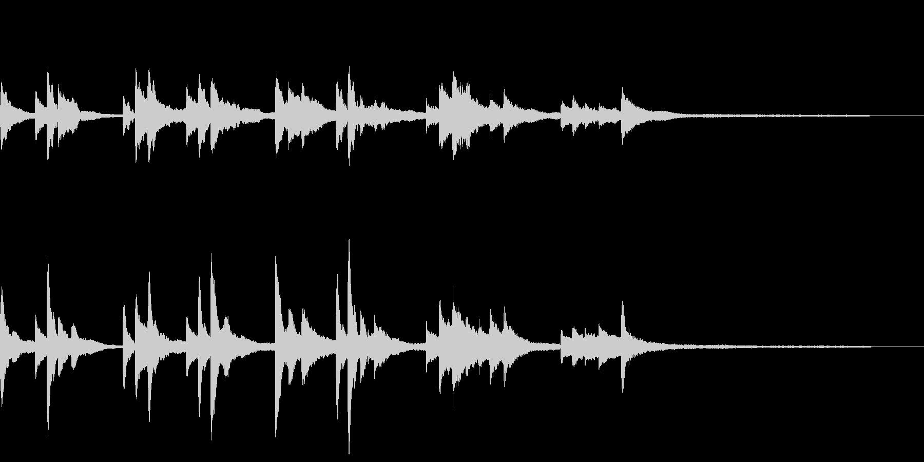 和風のジングル11-ピアノソロの未再生の波形