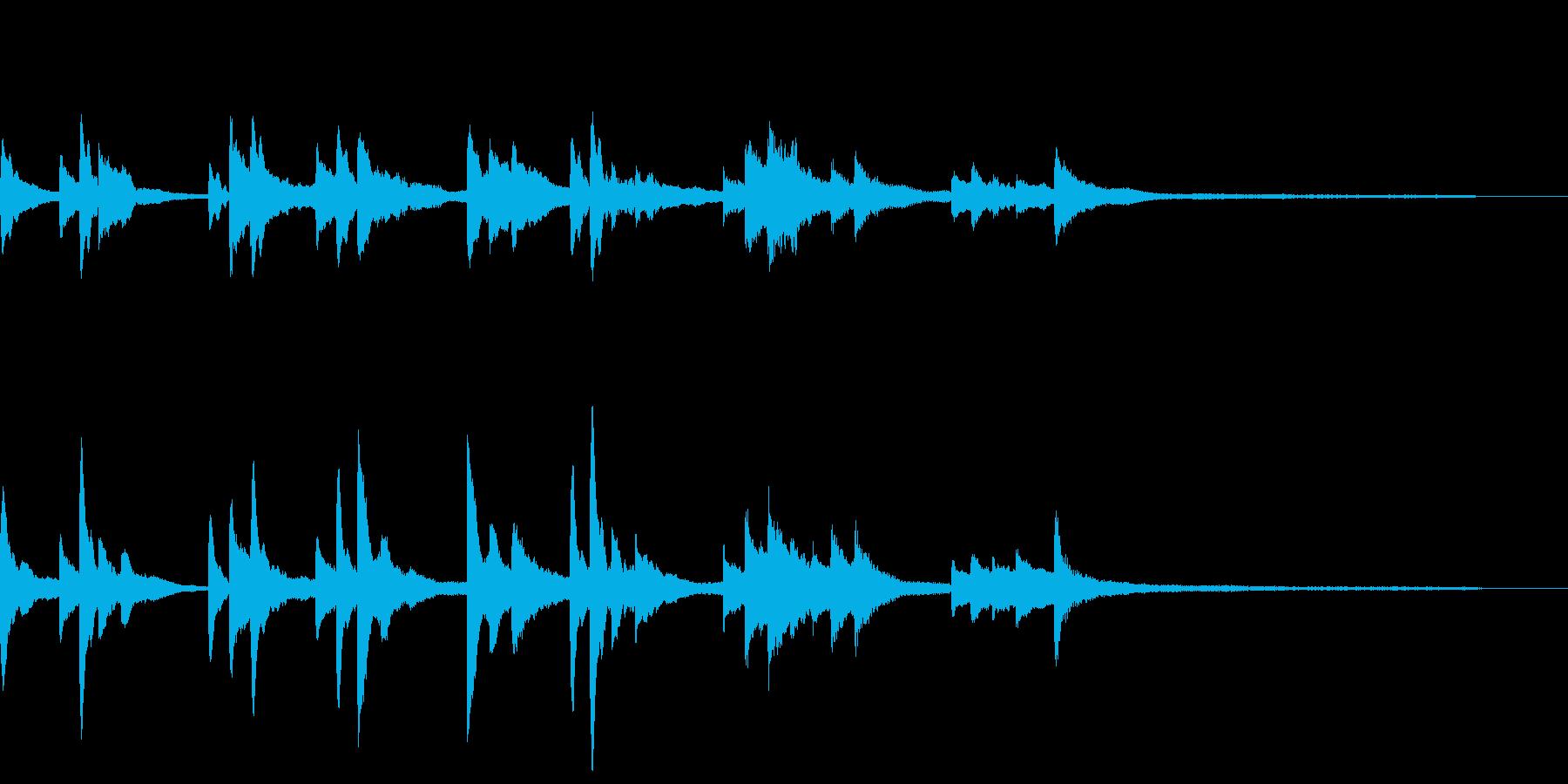 和風のジングル11-ピアノソロの再生済みの波形