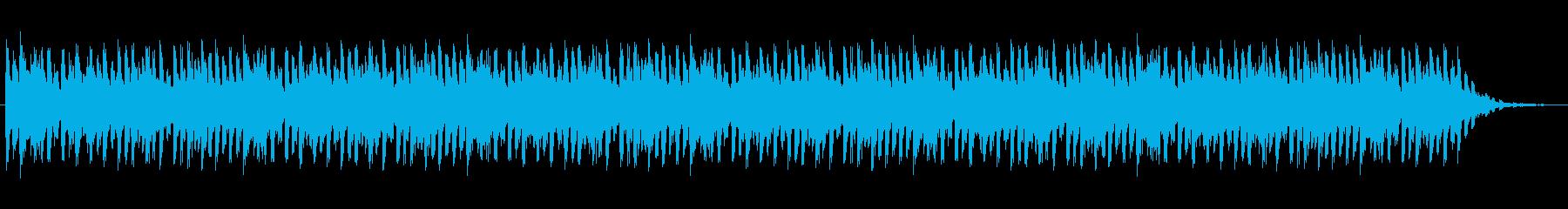 ショートBGM:テクノポップ02の再生済みの波形