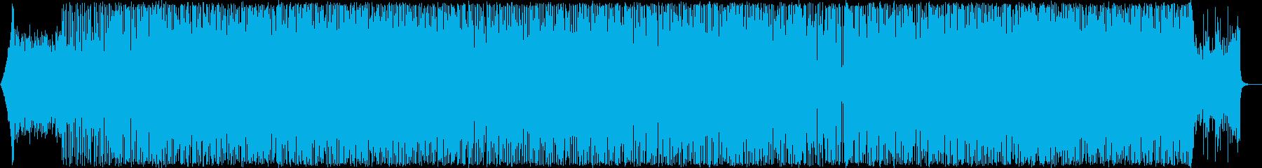 サンバ風きらきらエレキギターポップスの再生済みの波形