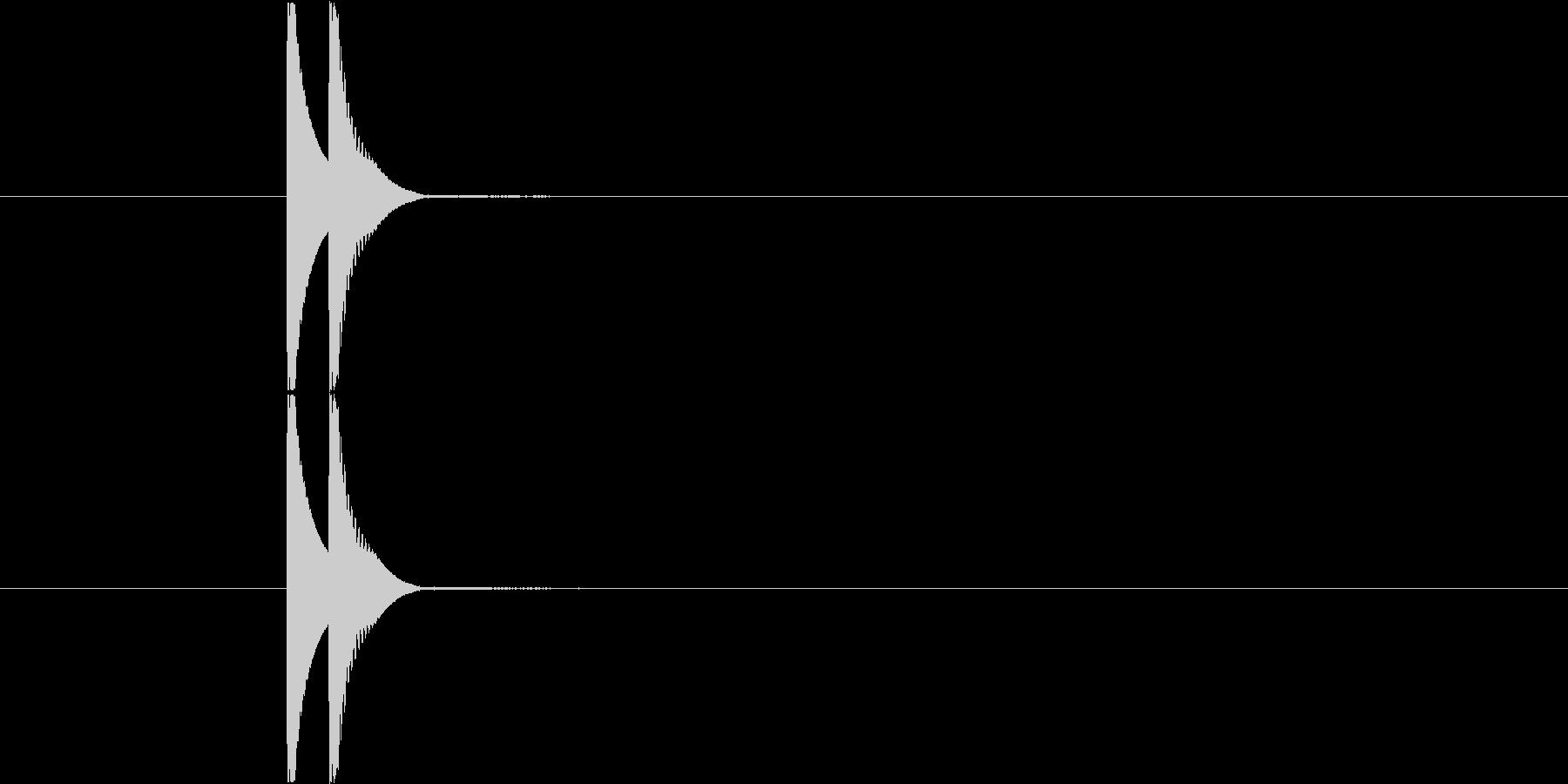 カワイイ系クリック Aの未再生の波形