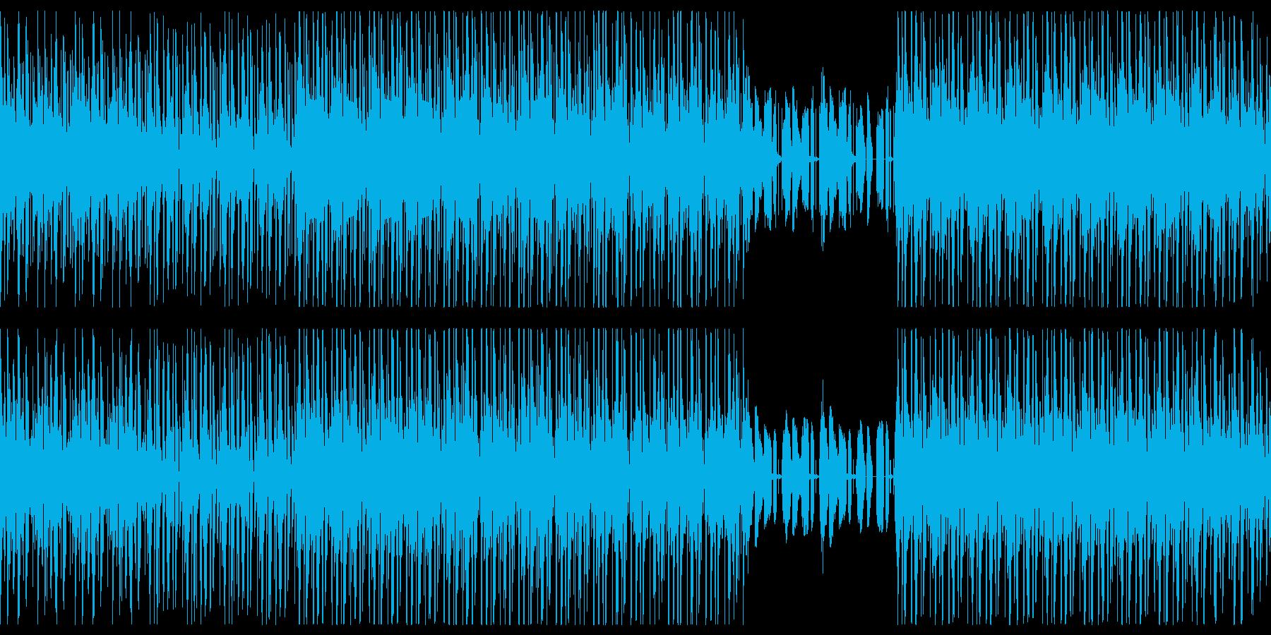 80年台、ディスコR&B風ミュージックの再生済みの波形
