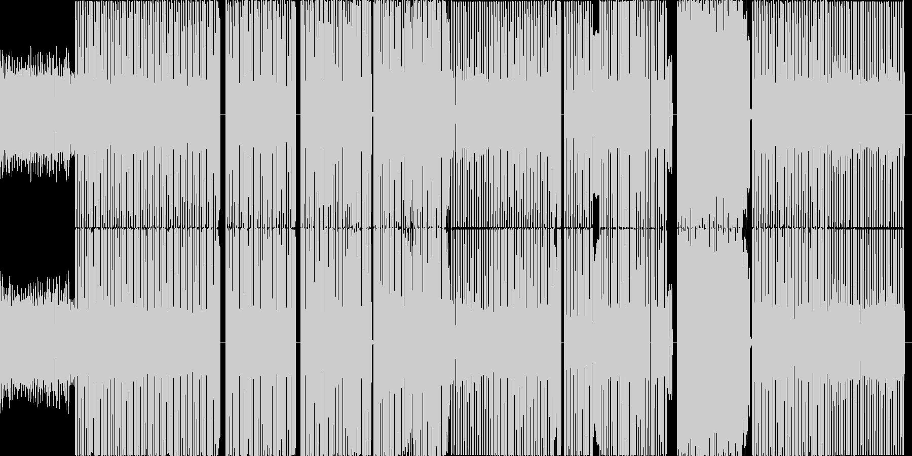 ビデオゲームのようなテクノ曲の未再生の波形