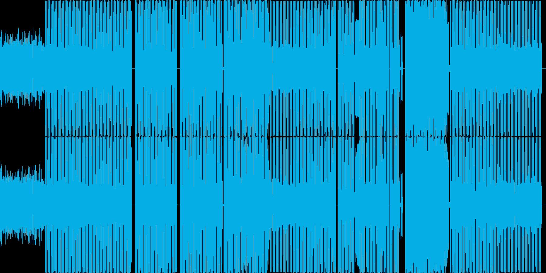 ビデオゲームのようなテクノ曲の再生済みの波形