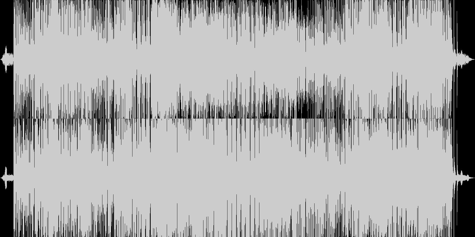 ピアノとストリングスの軽快なリズムの未再生の波形