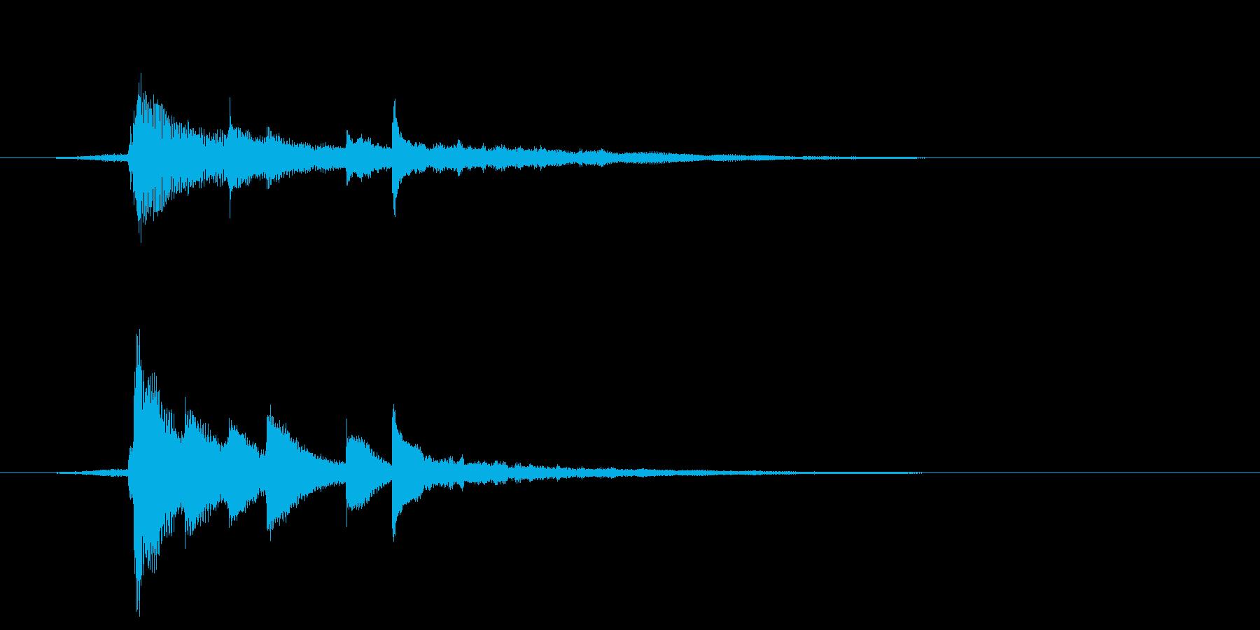 ピアノ ジングル 1 都会的 報道番組の再生済みの波形