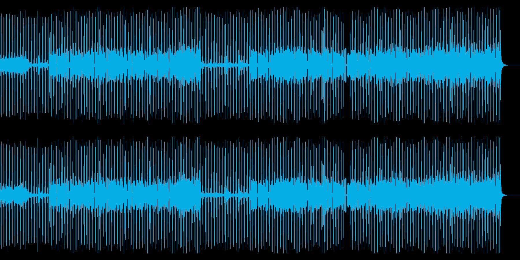派手すぎないハウスミュージックの再生済みの波形