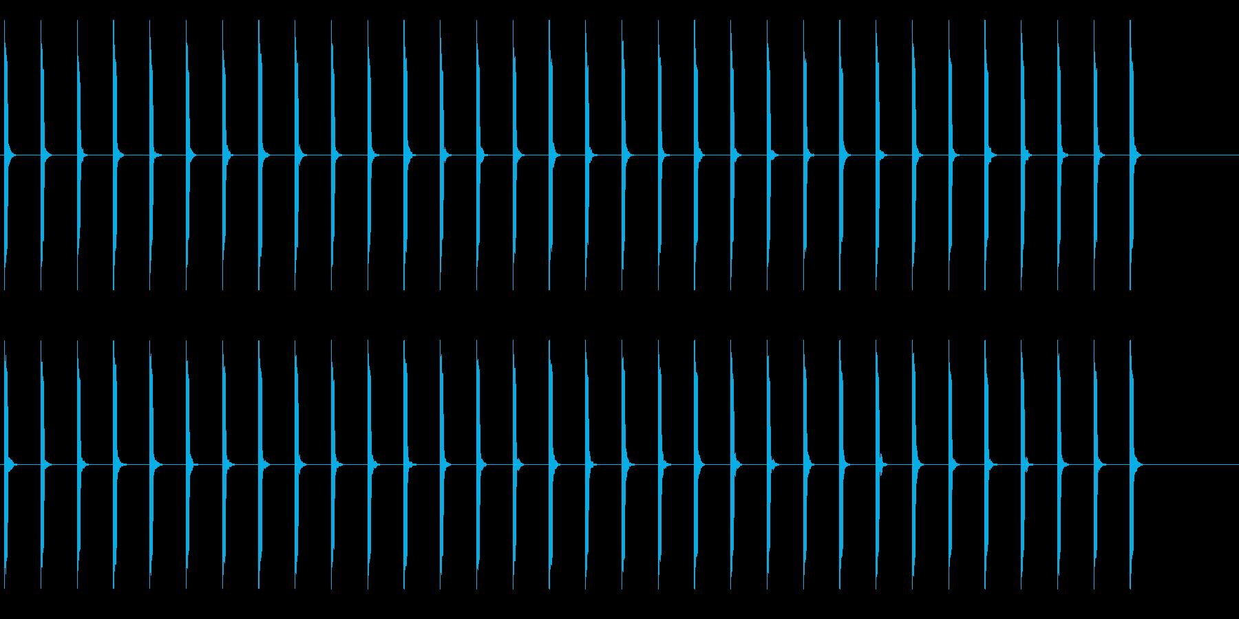 心電図の音-4-1(BPM40)の再生済みの波形