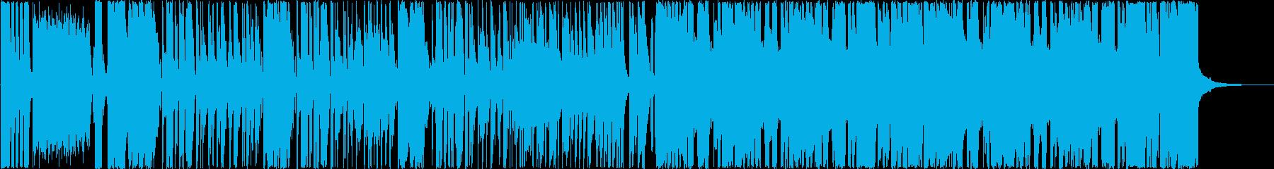 ブラスとワウギターが印象的なファンキー曲の再生済みの波形