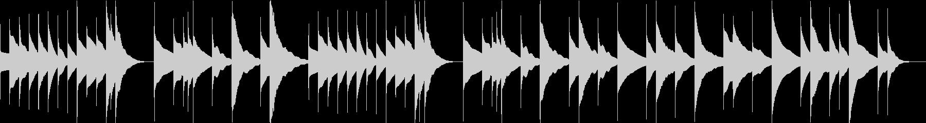 オルゴール/睡眠/癒し/プロフィールの未再生の波形