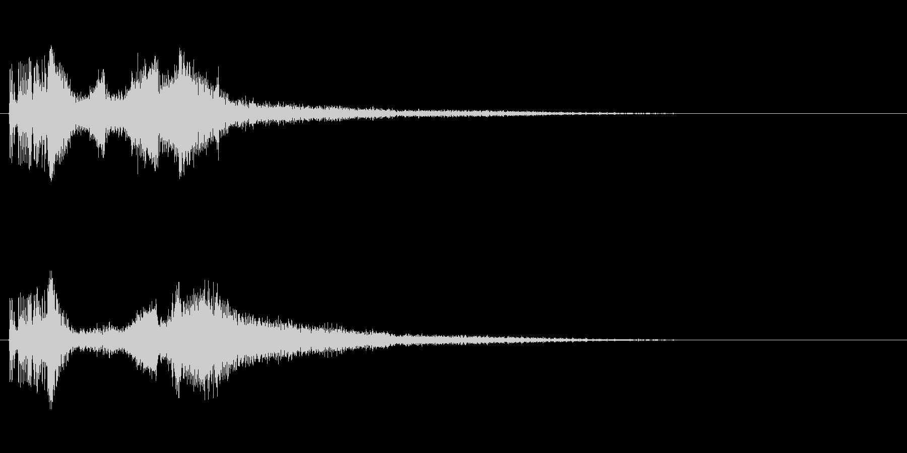 カッコいいラジオジングル効果音の未再生の波形