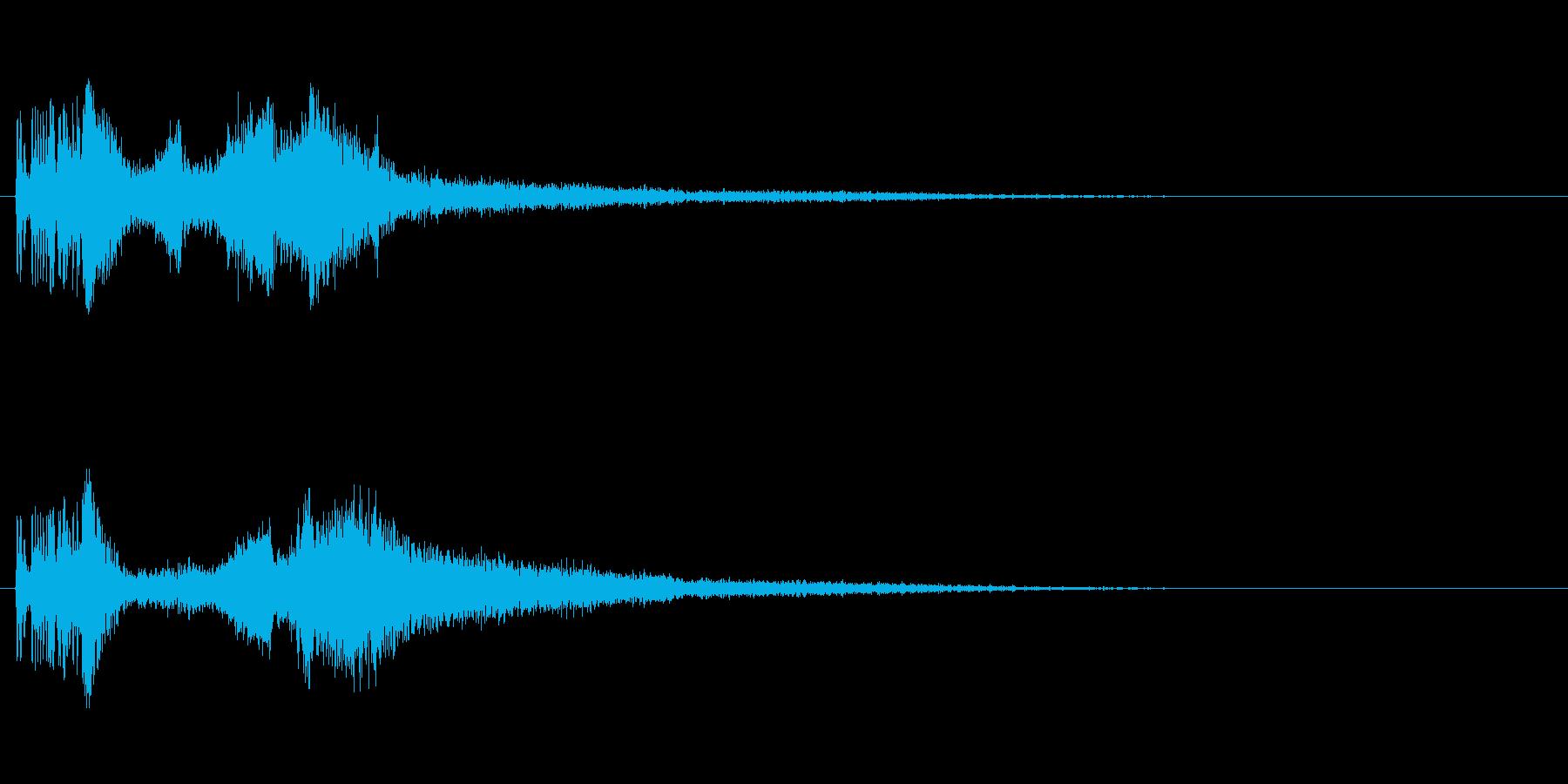 カッコいいラジオジングル効果音の再生済みの波形