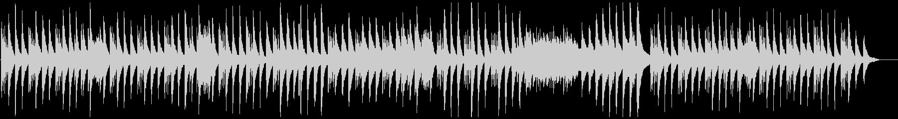 ピアノ、穏やかにカラフルに繰り返す旋律の未再生の波形