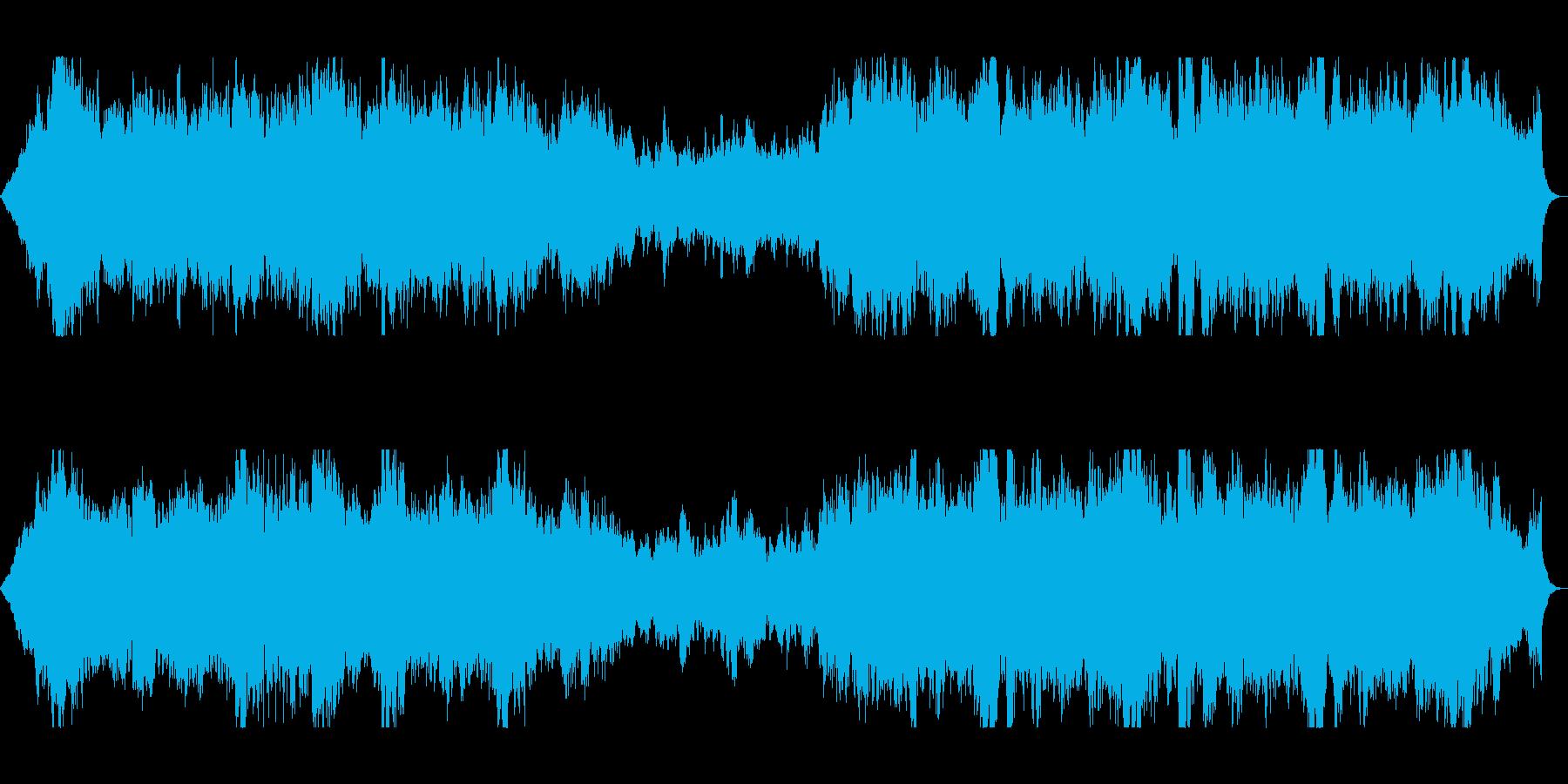 管弦楽のオーケストラの雄大な楽曲の再生済みの波形