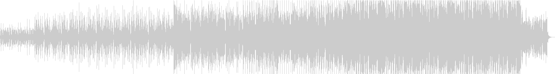 電子音のエレクトロハウスの未再生の波形