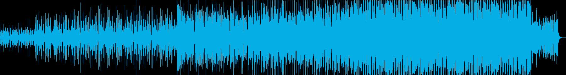 電子音のエレクトロハウスの再生済みの波形